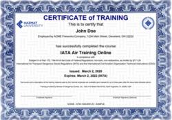 hazmat shipping certification